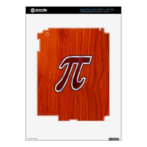 Caoba rica pi iPad 3 skin