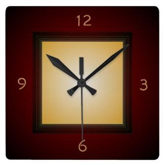 Caoba simplista con el reloj de Lemon>Wall