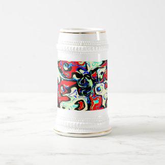 Caos abstracto tazas de café