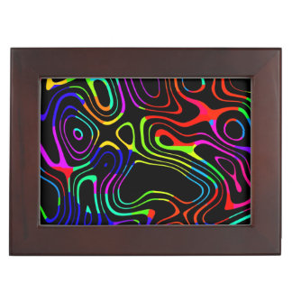 Caos colorido cajas de recuerdos