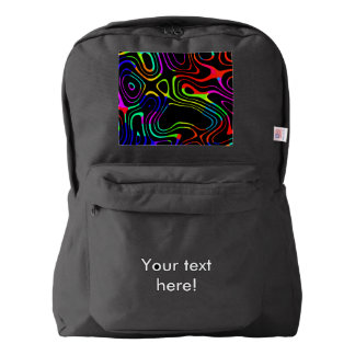 Caos colorido mochila