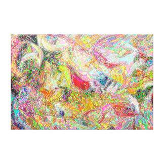 Caos del color lona estirada galerías