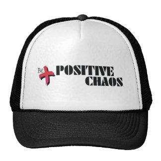 Caos del positivo de la camiseta gorra