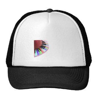 Caos del teclado brillante en blanco gorras