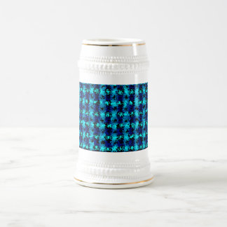 Caos en azules tazas de café
