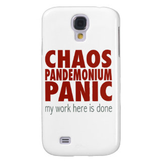 ¡Caos! ¡Pandemónium! ¡Pánico! Funda Para Galaxy S4