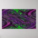 caos púrpura verde poster