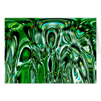 caos verde tarjeta de felicitación
