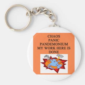 CAOS y pánico Llaveros Personalizados