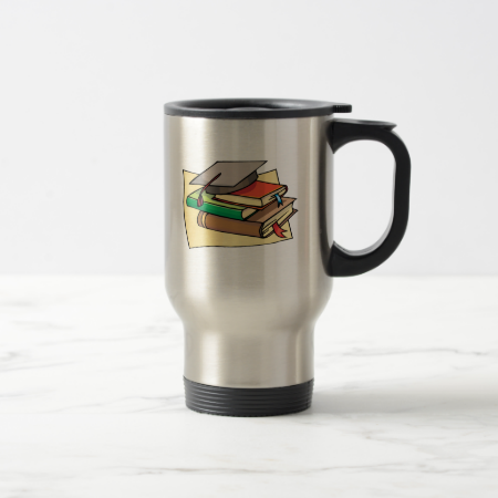 Cap and books mugs