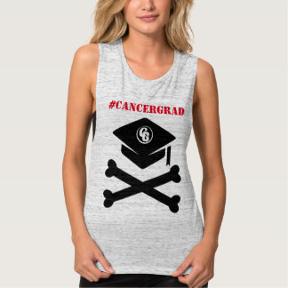 Cap and Crossbones #CancerGrad Tank