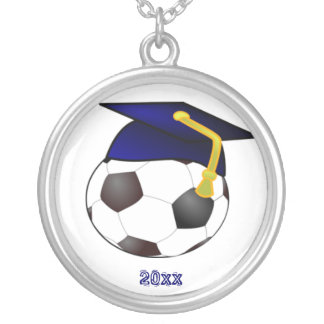 Cap and Soccer Ball Necklace