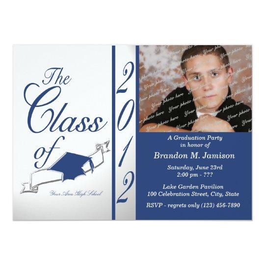 Cap and Tassel Class Graduation 2012/ Blue Card