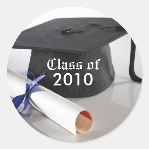 Cap and Tassel Custom Graduation Invitation Seal Sticker