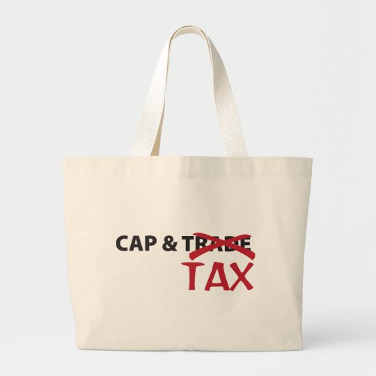 Cap and Tax Large Tote Bag
