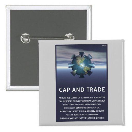 Cap And Trade Destroys Pinback Button