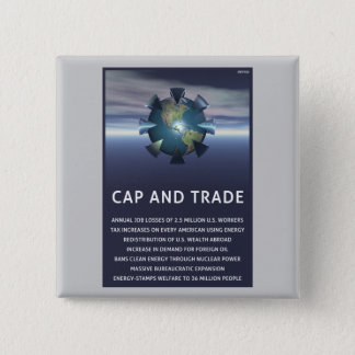 Cap And Trade Destroys Pinback Button