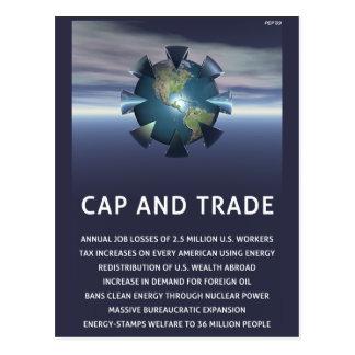Cap And Trade Destroys Postcard