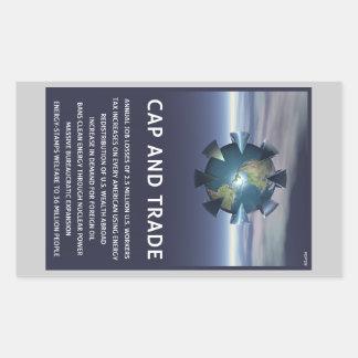 Cap And Trade Destroys Rectangular Sticker
