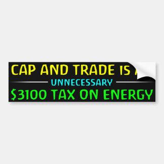 Cap And Trade Is A Tax Car Bumper Sticker