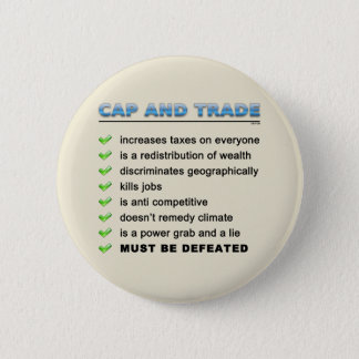 Cap And Trade Scam Pinback Button