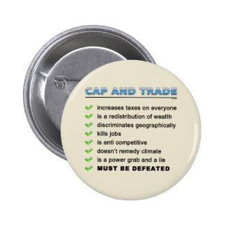 Cap And Trade Scam Pinback Button