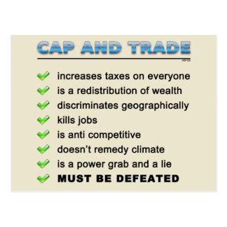 Cap And Trade Scam Postcard