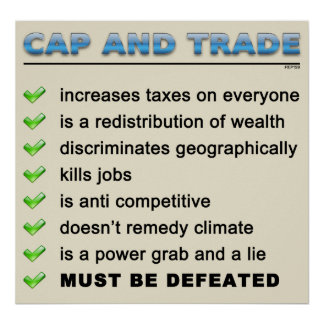 Cap And Trade Scam Poster