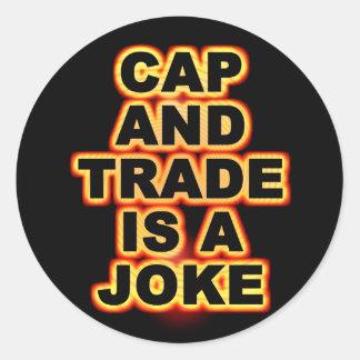 Cap And Trade Classic Round Sticker
