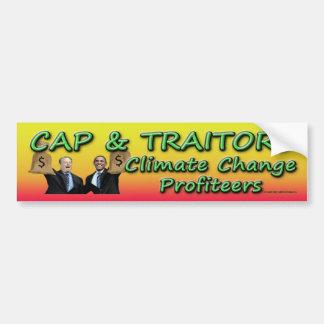 Cap and Traitors Car Bumper Sticker