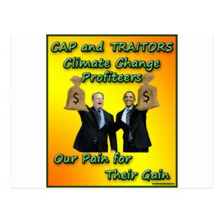 Cap and Traitors Postcard