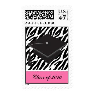 Cap and Zebra Pattern Graduation Postage