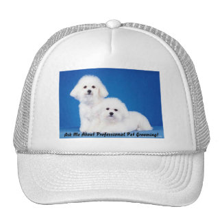 Cap - Ask Me About Prof. Pet Grooming Trucker Hat