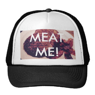 Cap, Black/White, MEAT ME! Trucker Hat