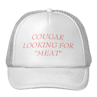 CAP - COUGAR LOOKING FOR MEAT TRUCKER HAT