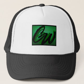 Cap-CW black and white ball cap. Trucker Hat