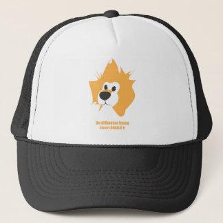 """Cap: """"De afrikaanse leeuw kleurt ORANJE !!"""" Trucker Hat"""