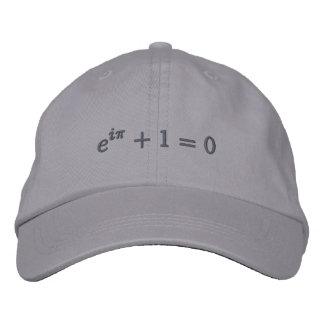 Cap: Euler's identity embroidered, small, gray Embroidered Baseball Cap