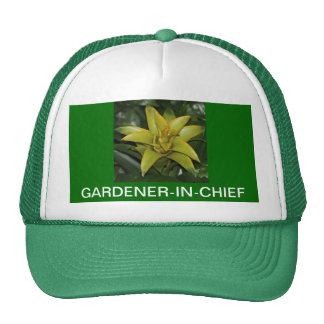 CAP, GARDENER-IN-CHIEF, GREEN BROMELIAD TRUCKER HAT