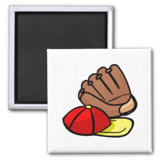 Cap & Glove 2 Inch Square Magnet