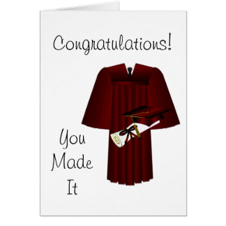 Cap Gown and Diploma Congratulations Card