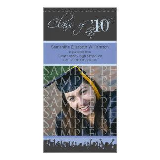 Cap & Gown Graduation Photo Announcement (lilac) Photo Card