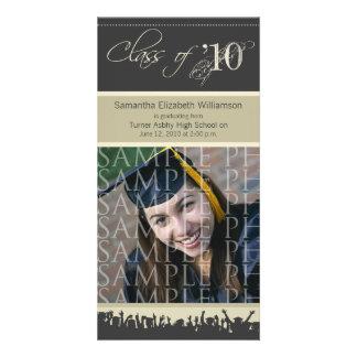Cap & Gown Graduation Photo Announcement (taupe) Photo Card