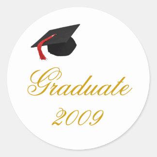 cap, Graduate, 2009 Classic Round Sticker