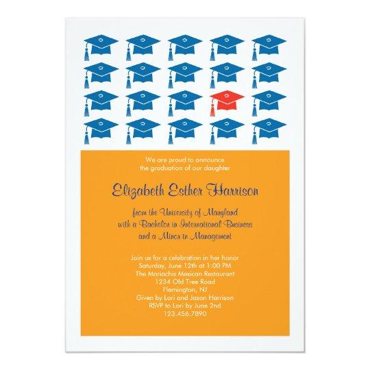 Cap Graduation Invitation
