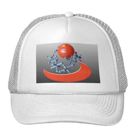 Cap Hat Jacks and Ball Retro Toys Red Black