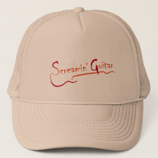 cap hat Screaming Guitar design