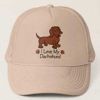 "Cap ""I love my dachshund """
