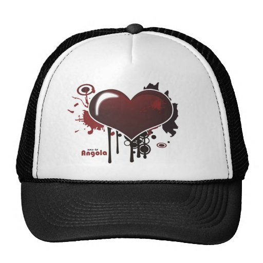 Cap - I love you Angola - radical Heart Mesh Hats