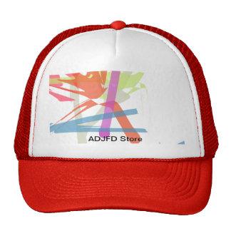 Cap multicoloured design graphics mesh hat